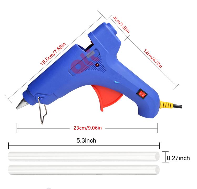 100 Вт 20 Вт мини промышленный Электрический силиконовый термоклеевой пистолет цветные прозрачные термоклеевые карандаши для клеевого пистолета
