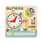 Toys Toy Wooden Toy 2021 Wholesale High Quality Kids Early Learning Wooden Calendar Educational Toys