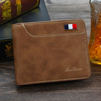 Factory wholesale Amazon Best Selling Slim Short Card Holder billfold Wallet Men PU Leather Men's Wallet