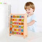 Abacus Educational Wooden Abacus 2020 New Design Wooden Toy Alphabet Abacus Learning Educational Toy For Kids