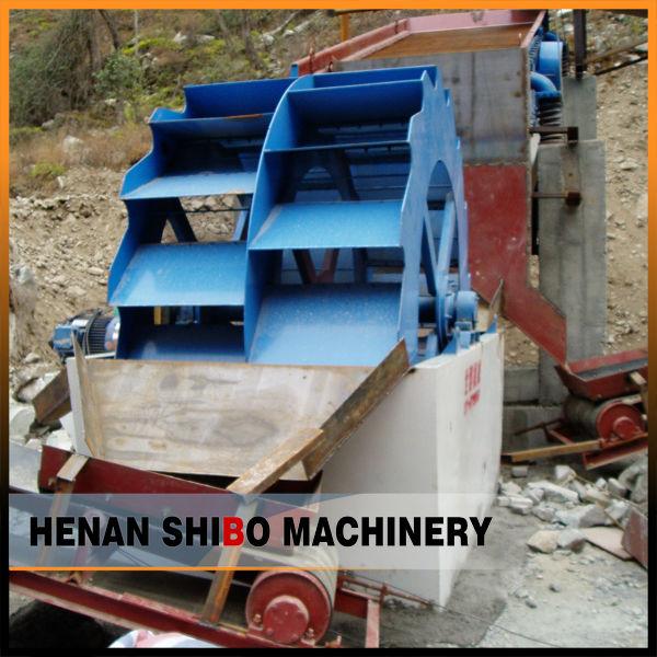 Wheel bucket type sand washing machine for sand production line