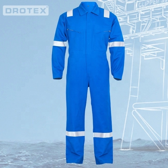 98% Cotton 2% Anti static Pyrovatex CP Flame resistant garment / Fire resistant coverall - KingCare | KingCare.net
