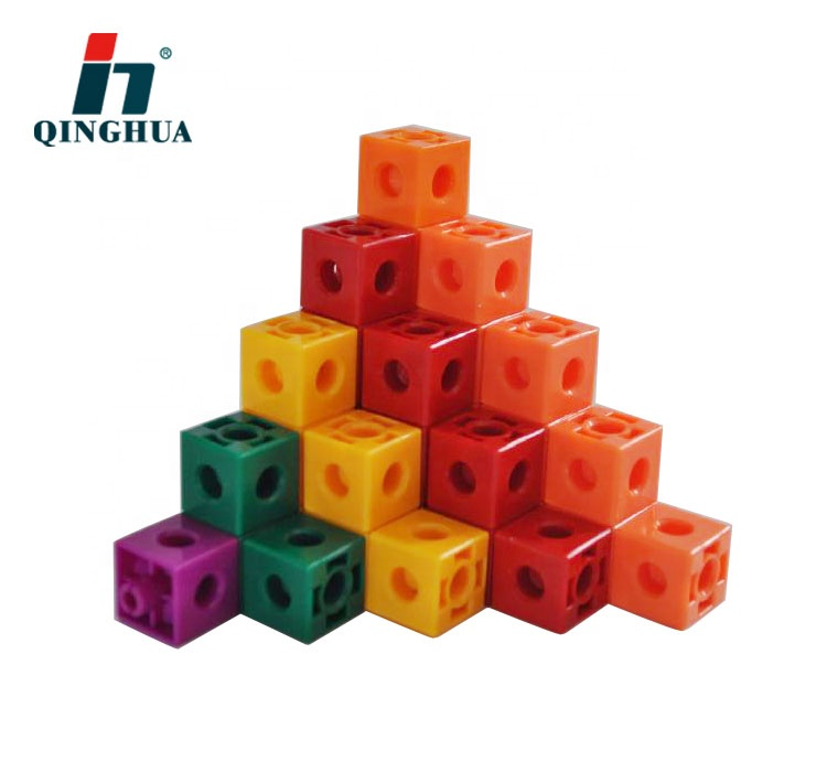Educational Toy 5 Colors Counting Cubes Snap Blocks Centimetre Cubes Teaching Math Manipulative Colorful Plastic Kids Carton Box