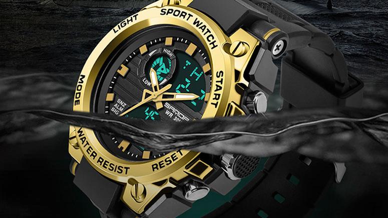 SANDA 739 أفضل سيليكون التناظرية شاشة ديجيتال ساعة رجالية رائجة البيع العصرية الساعات الرياضية حسب الطلب OEM