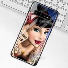Чехол принцессы с татуировкой для samsung Galaxy S10 S10e S9 S8 Plus A70 A50 A30 Note 9 10 + 5G чехол из закаленного стекла для телефона(Китай)
