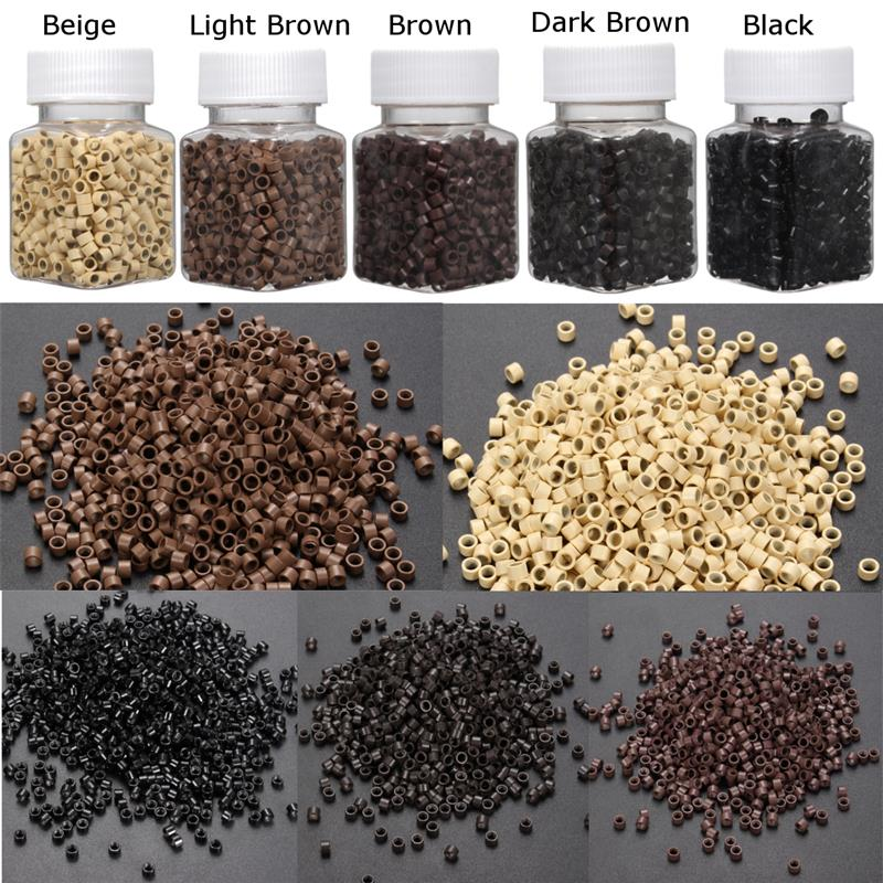 micro ring hair extensions Ring Beads Small 5*3*3mm beads for extensions hair beads for braids 1000 pieces
