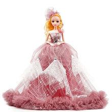 Новинка 2020, подвижная Кукла 9 шарниров 40 см BJD, модное изысканное свадебное платье для автомобиля, костюм, общий мышечный блонд, волосы для де...(China)