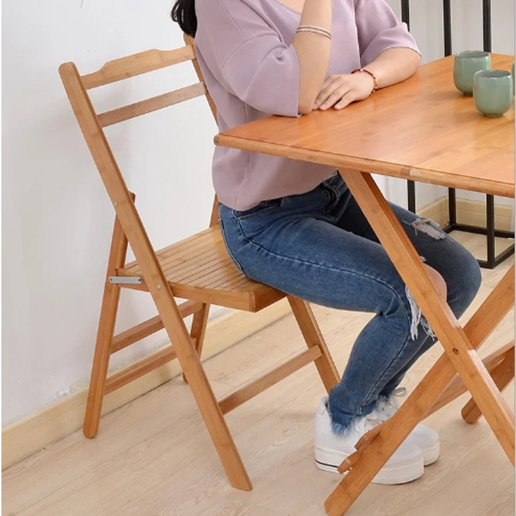 High quality natural bamboo and wood outdoor camping folding chair