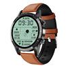 Brown T7 Plus Leather sport smart watch best smartwatch