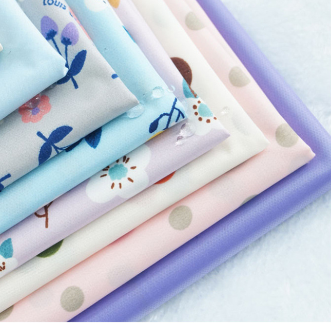 Custom printed PUL fabric baby diaper raw material fabric cloth diapers low MOQ custom print