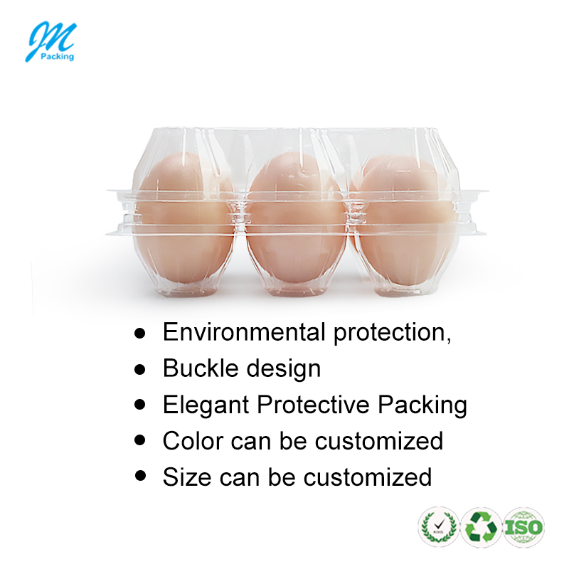 Оптовая продажа, 6 отверстий, пластиковая раскладная картонная упаковка для яиц