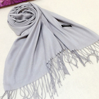 Pashmina Long Wholesale Fashion Solid Color Pashmina Cashmere Long Scarf With Tassel