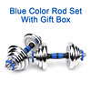 Mavi çubuk hediye kutusu ile Set