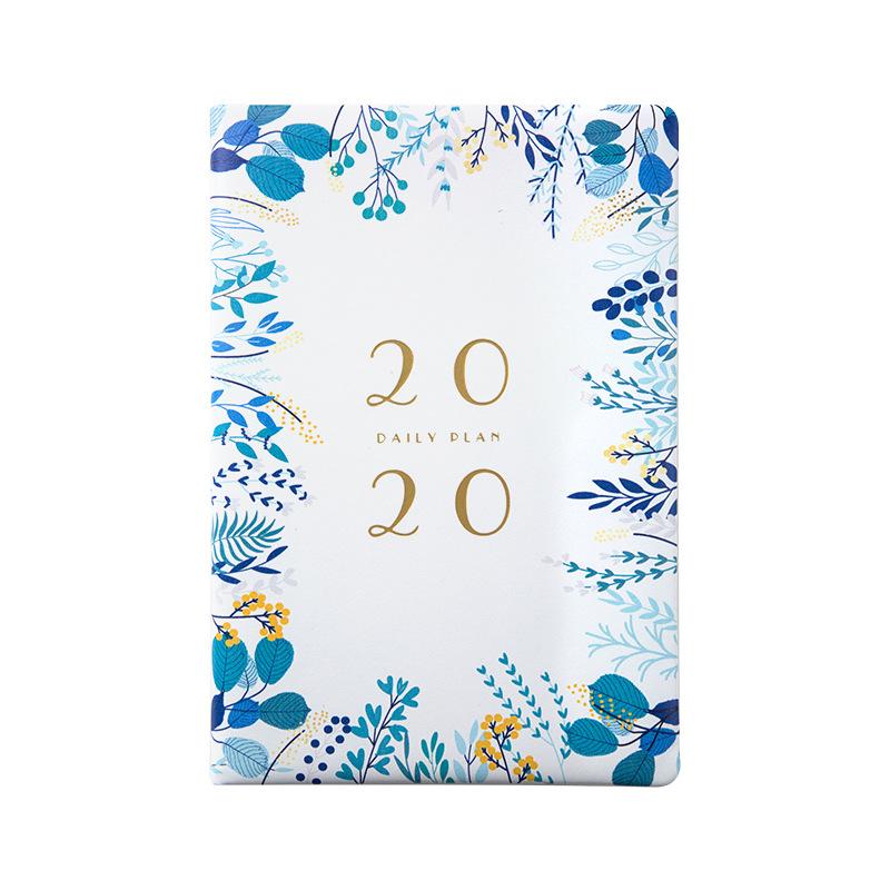 A5 2020 планировщик Блокнот Журнал органайзера и журнал неделя путешествия блокнот офис китайский планировщик руководство D40(Китай)