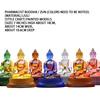 7-inch glazed pharmacist Seven Buddhas / Zun (painted models)
