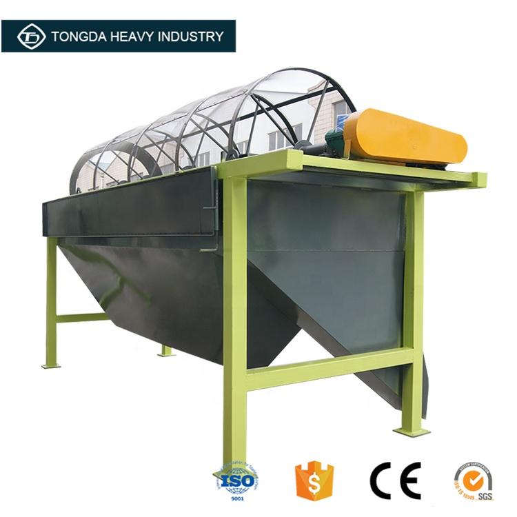 Large mobile agriculture farming rotary organic fertilizer screen machine making machine plant