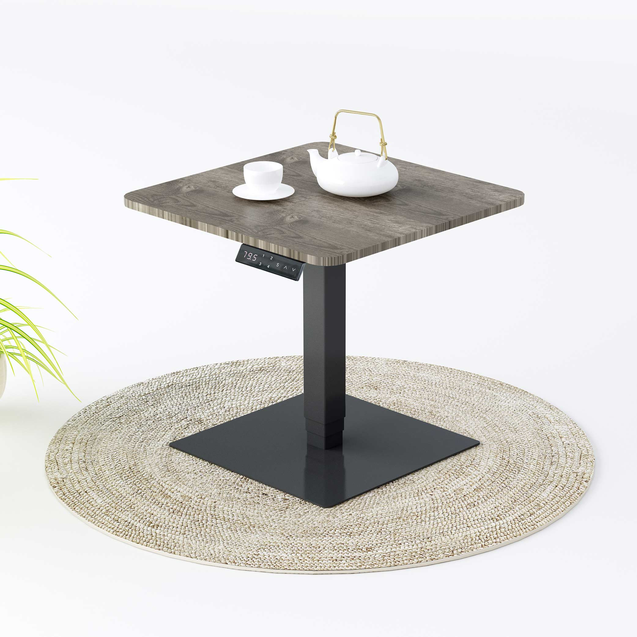 Современный дизайн, регулируемый по высоте Деревянный Электрический обеденный журнальный столик