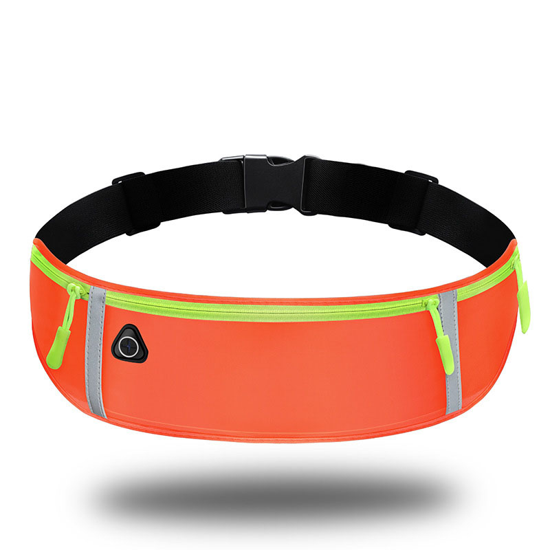 Customized neoprene Fit smart Phone reflective Marathon Fitness Runner Earphone Fanny pack waist bag
