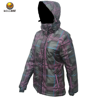 Cheap winter wear splice padded cotton coat lady fashion unique windproof waterproof woman coat with hood