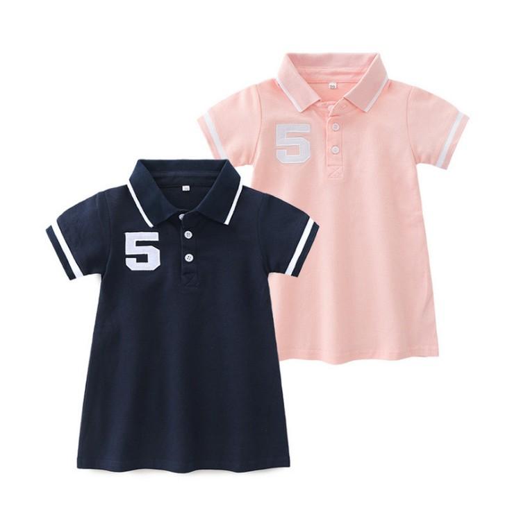 Baby Girl Sport Polor Collar T-shirt Dress Summer Shortsleeve Fashion Wear - Buy Girls Polo Style Baby Wear,Fashion Collar T-shirt,Baby Girl Sport ...