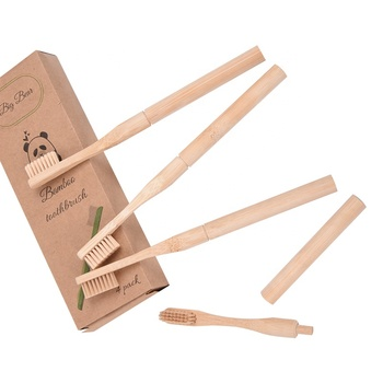 BAMBOO TOOTHBRUSH Charcoal Natural ECO FRIENDLY Teeth Brush Soft replacement brush heads bamboo