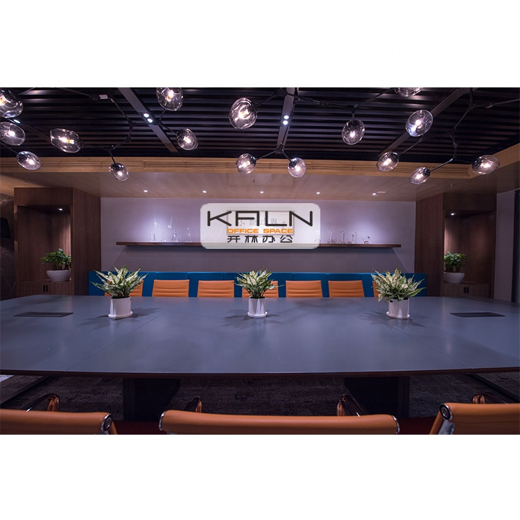 Custom Made Room Office Solid Wooden Panel Conference Table Big Size Meeting Desk