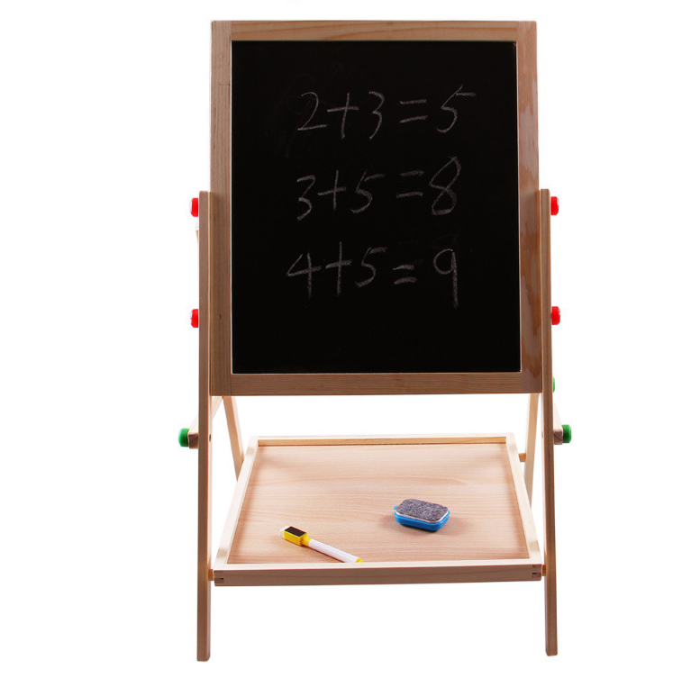 Новый Дизайн 2016, детский Многофункциональный Двусторонний деревянный магнитный мольберт