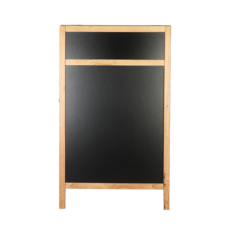 Wooden Custom High Quality Advertising Chalk Board A Frame With Double Sides Outdoor Sign Board Blackboard