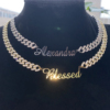 Name Plated With Cuban Chain-Gold