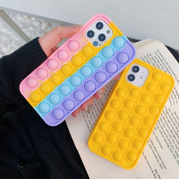 2021 Shockproof Colorful IPhone 12 Case Silicone Cell Phone Case For IPhone 12 11 Pro Max 7P 7S 7P SE Bubble phone cover Case