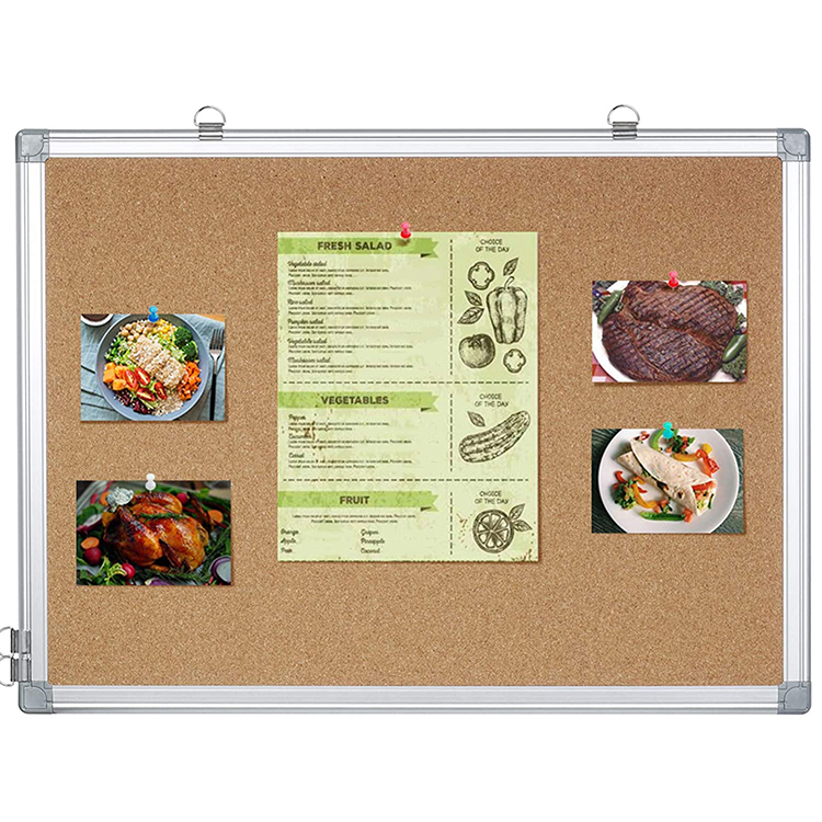 Modern Message Board Wall Mounted Board Aluminum Frame With 12 Pins Bulletin For Home Office - Yola WhiteBoard   szyola.net
