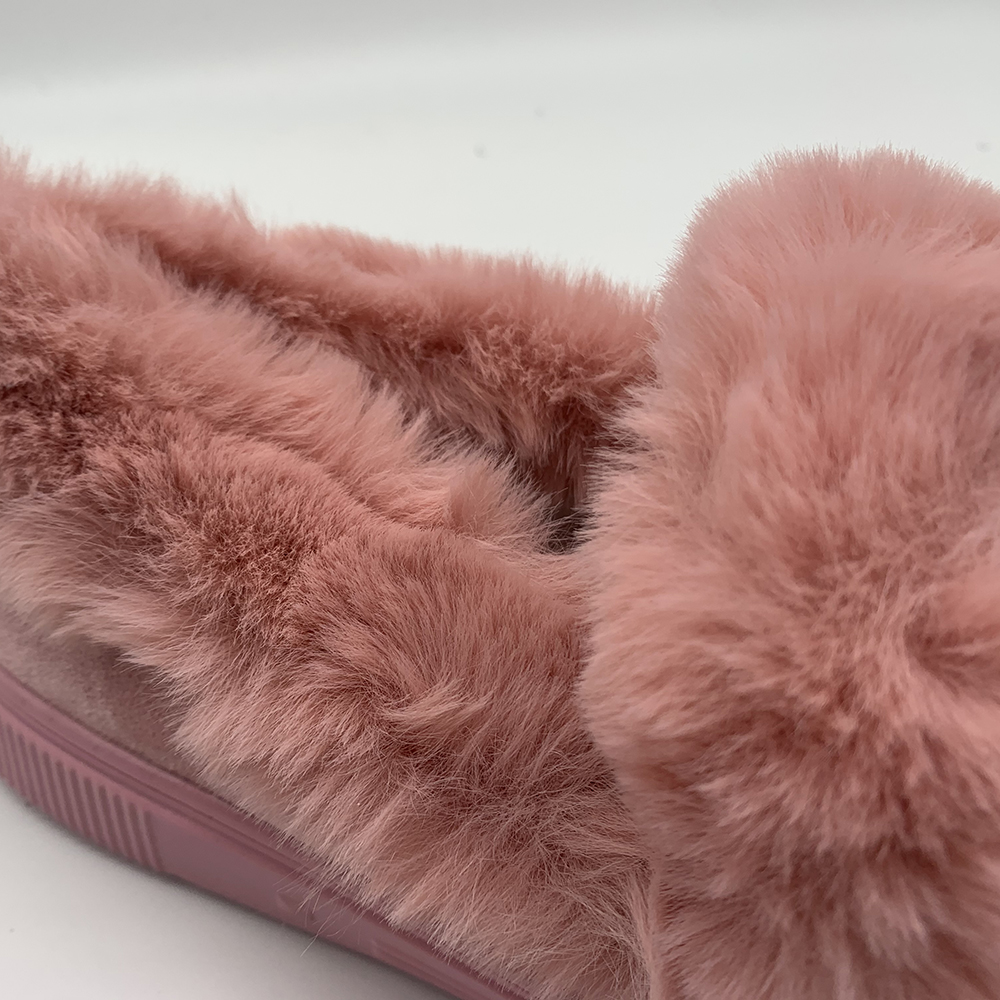 drop shipping winter Warm Plush fur Suede Round Toe Casual Fashion Flat boots women