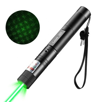 Professional 303 Green Red Laser Pointer With Star Head 532nm Lazer Flashlight Burning Beam Match Burn Cigarettes Hunting