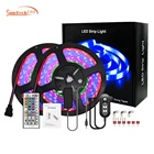 2021 New Arrival App controlled full kit music sync voice contro 15m 12v 2 In 1 strip Kit 5050 RGB Led Strip Lights
