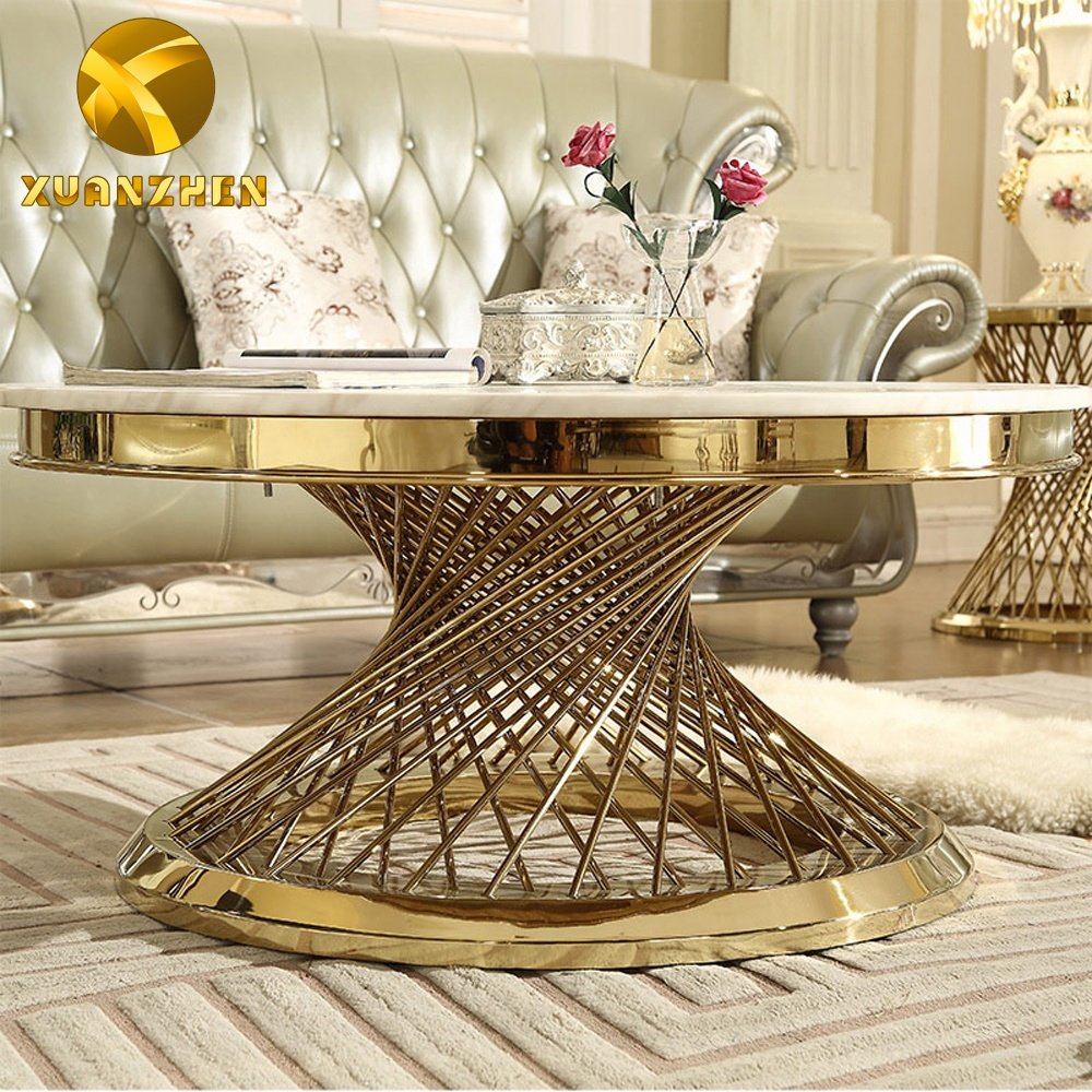 Home furniture round center table marble coffee tables modern luxury coffee table for living room