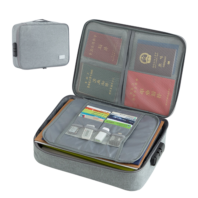 Travel Document Organizer Case With Coded Lock Document Carry Bags Documents Storage Organizer