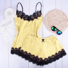 Женское кружевное нижнее белье Sfit, атласная ночная рубашка без рукавов, Пляжное Платье(Китай)