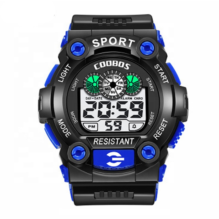 Hot Fashion SW103 Silicone Kids Sport Watch Digital Wrist Watch Chronograph Multifunction Alarm Clock With Night Light