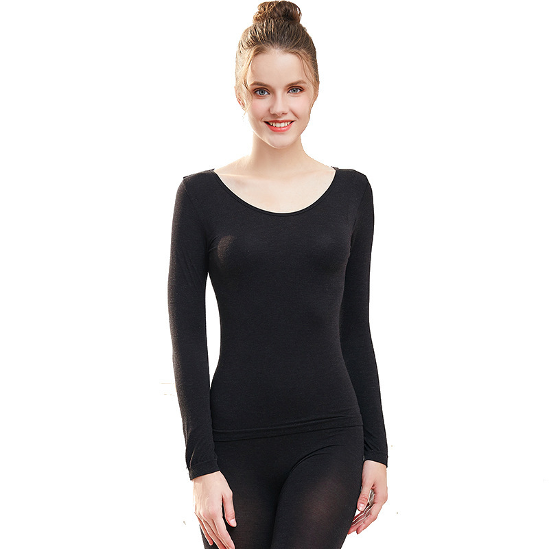 Hot selling autumn and winter seamless thermal underwear set women high elastic base long johns suit