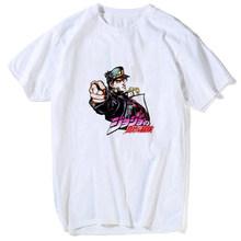 Повседневная футболка JoJo Bizarre Adventure, Харадзюку, аниме, Винтажная Футболка kawaii, белая футболка в стиле хип-хоп с коротким рукавом и забавным пр...(Китай)
