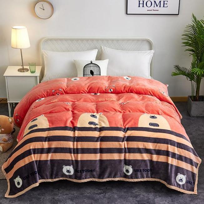 Утяжеленное и уютное одеяло из кораллового флиса для ребенка