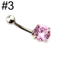 L. Mirror, 1 шт., кольца на кнопках для живота, 316, медицинская нержавеющая сталь, титановый кристалл, сердце, Пирсинг живота для женщин, девушек, те...(Китай)