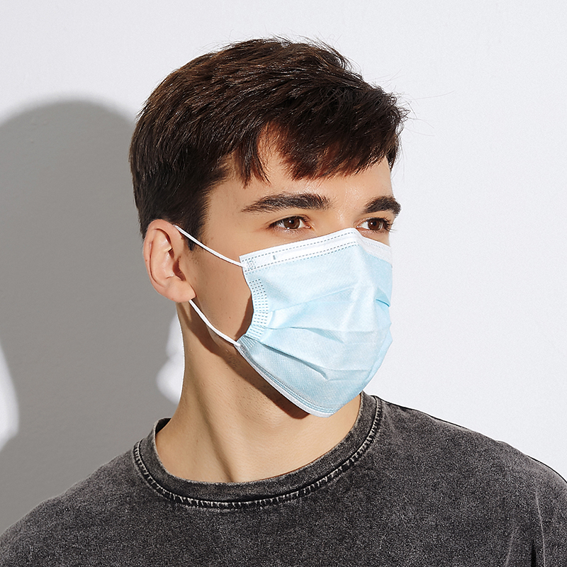 Filter Melt-blown Fabric Protective Face Mask 3ply Face Disposable Stock in US - KingCare | KingCare.net