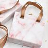 marble eyelash packaging box custom with ribbon