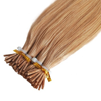Good Reviews High Quality Cuticle Aligned Human Hair Bundles Raw Brazilian Afro Kinky Curly I Tip Extension