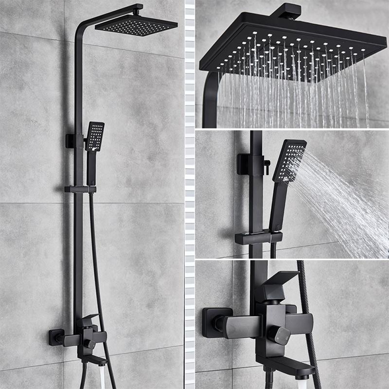 Китайский поставщик, дождевой высококачественный настенный смеситель для горячей и холодной ванной комнаты, набор для душа