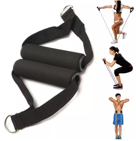 5 шт./компл. Спортивная латексная трубка для фитнеса, тянущаяся ручка, D-образное кольцо, эластичная ручка для силовых тренировок, веревка, соединительные аксессуары