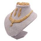 Jewelry India Jewellery Jewelry Sets For Women Dubai 24K Gold Color India Nigeria Wedding Gifts Necklace Earrings Bracelet Ring Set Ethiopia Jewellery