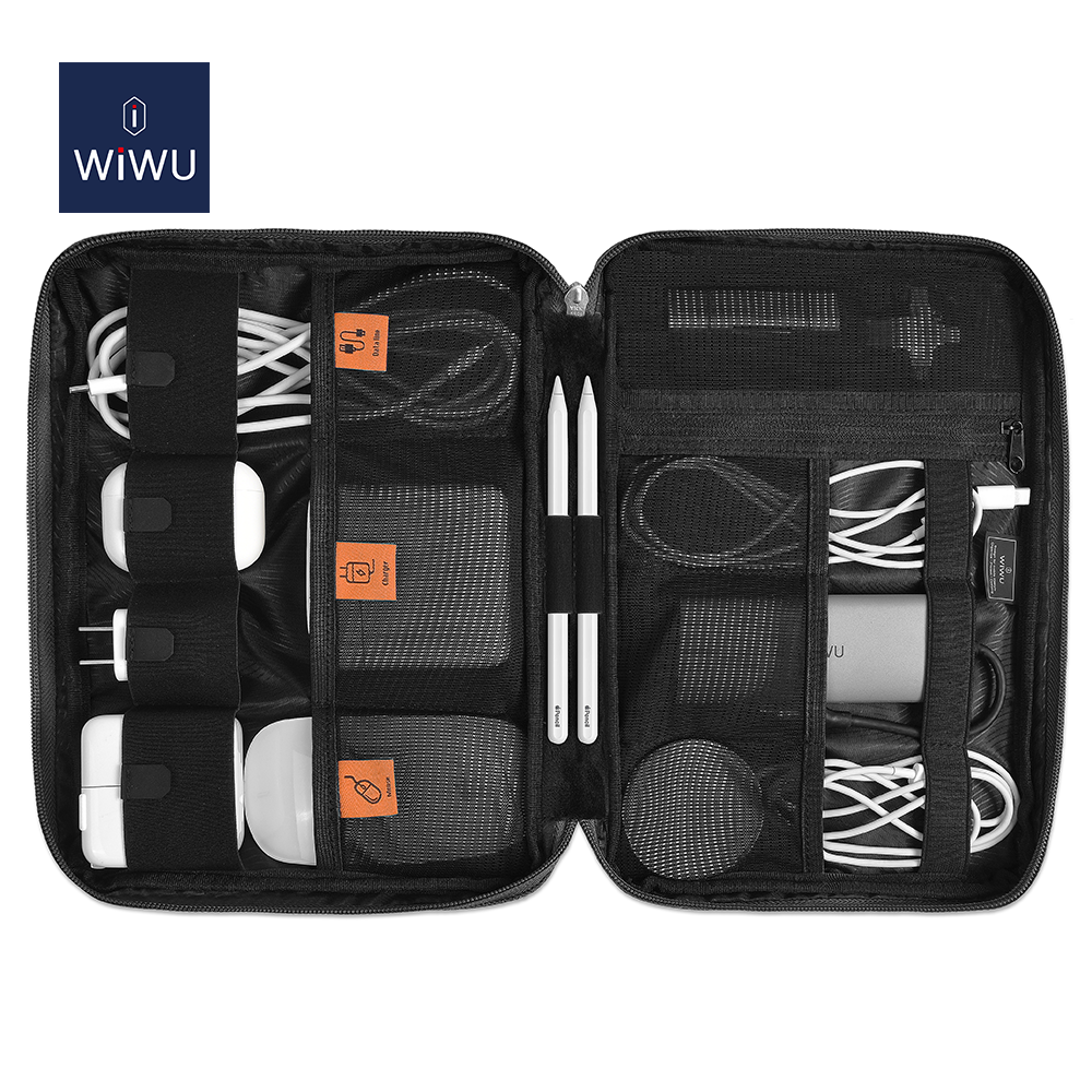 WIWU 2021 Top Selling Portable Zipper Travel Gadget Digital Electronic Accessories Storage Cable Organizer Bag