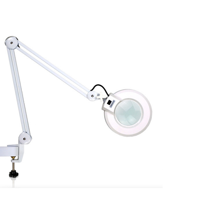 Floor Stand Cosmetic Nail Beauty Salon LED Magnifying Floor Lamp 5X